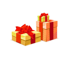 Gift Box: A gift box in 3 color versions