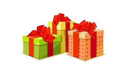 illustration of colorful gift box on white background