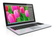 Laptop with photo editing software