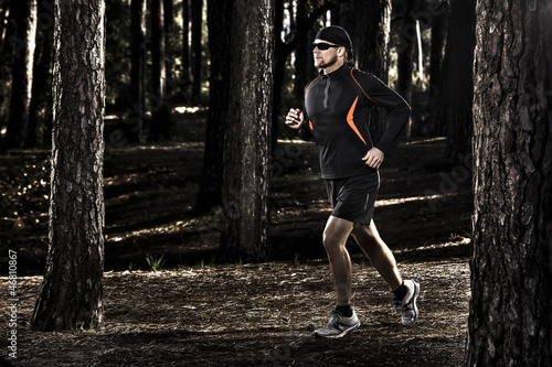 Runing in the forest