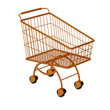 Golden shopping cart.
