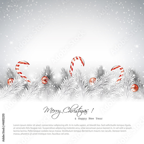 christmas silver background with place for text
