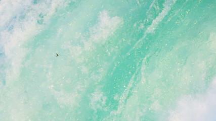 Natural Powerful Aqua Colored Water