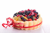 fruit cake, fruit charlotte