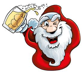 Babbo Natale con birra
