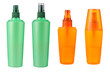 cosmetic bottles isolated