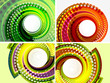 Colorful abstract swirl background set
