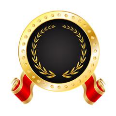 Golden Winner Medal - Seal