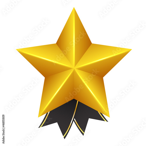 Golden Star with Bow
