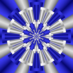 Kaleidoscope In Blue And Silver