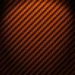 A realistic cooper carbon fiber weave background or texture