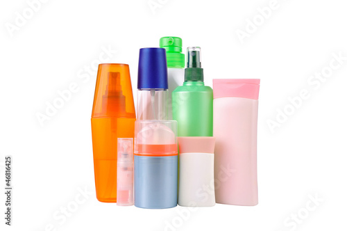 set  bottles isolated