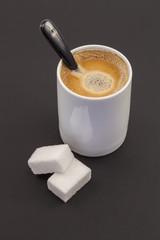 Coffee, chocolate and sugar