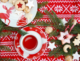 Norwegischer Weihnachtstisch