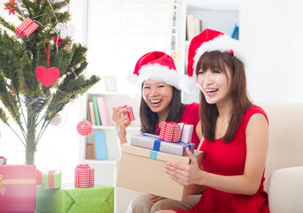 asian friend lifestyle christmas photo