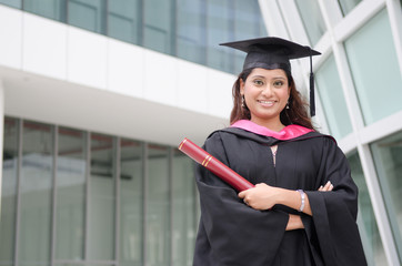 indian female graduate