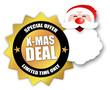 """Star-shaped Sticker """"X-Mas Deal"""""""