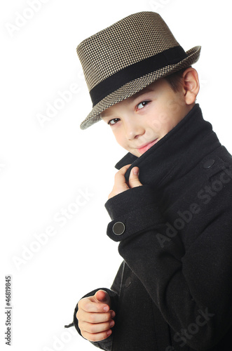 Boy with a hat Poster