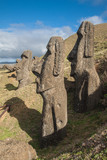 Easter Island Moais at Ranu Raraku