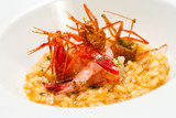 Risotto seafood rice with prawns.