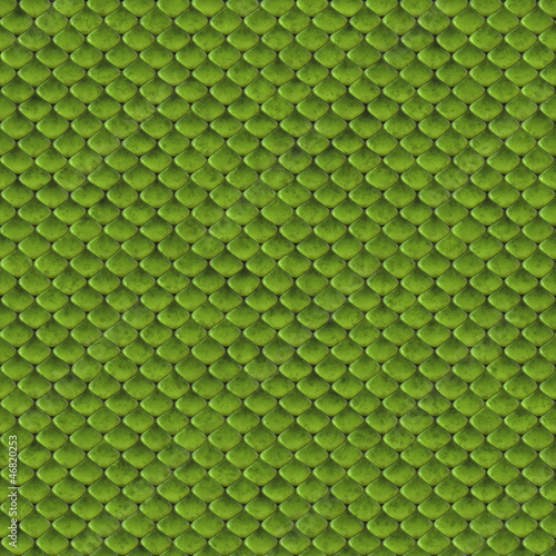 Green snake skin seamless background or texture