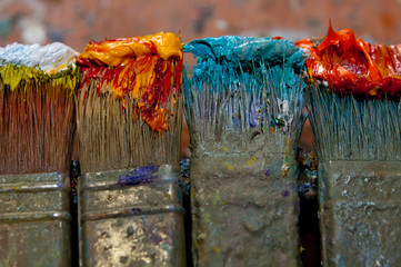 Artist Brushes close-up