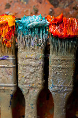 Artist Brushes close-up