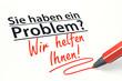 Stift- & Schriftserie: Wir helfen Ihnen!