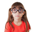 Little girl in round glasses