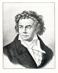 Portrait of composer Beethoven