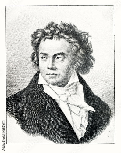 Portrait of composer Beethoven