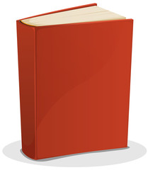 Red Book Isolated On White