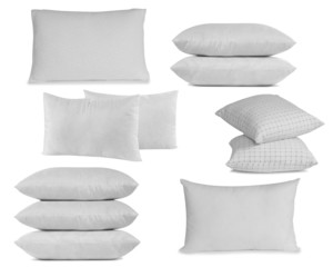 White pillows collection.