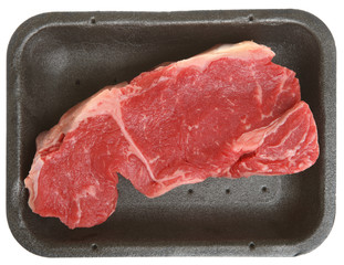 Fresh Sirloin Beef Steak in Tray