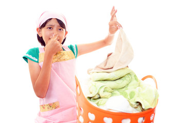 洗濯物の臭いが気になる女の子