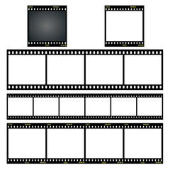 set von verschiedene dia filmstreifen vektor illustration