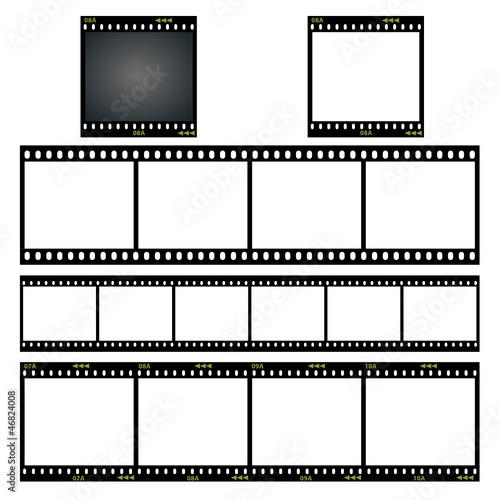 Ustawia verschiedene dia filmstreifen vektor ilustracji