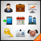 Fototapety business icons - set 2