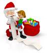 3D Santa with a kid