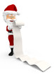 3D Santa with a long Christmas list
