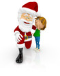 3D Santa with a boy