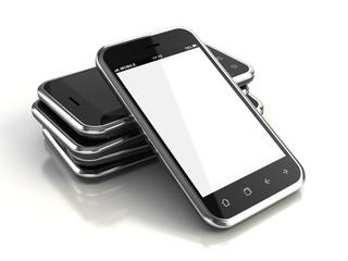 Touchscreen smartphones - 3d render