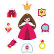 Princess design elements set