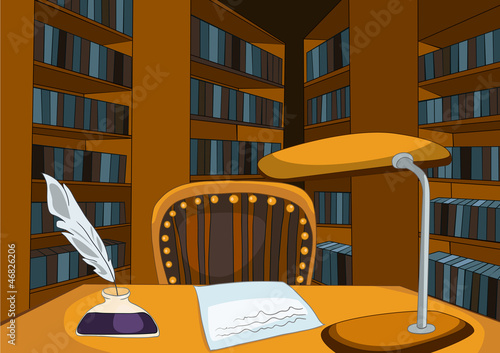 Library Room Cartoon