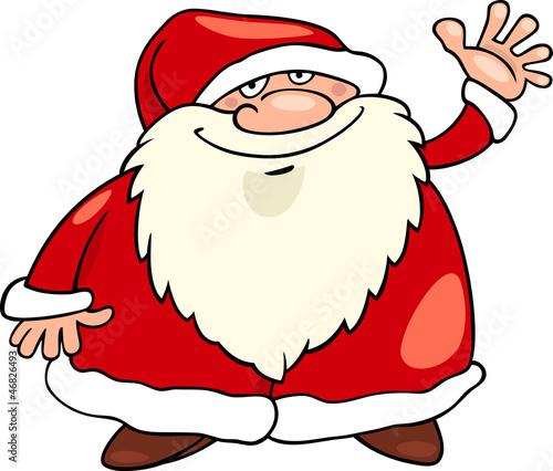 santa claus christmas cartoon illustration