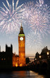 Fireworks over Big Ben