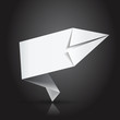 étiquette vierge blanche : origami