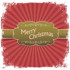Merry Christmas greeting card. Vector illustration, EPS10.