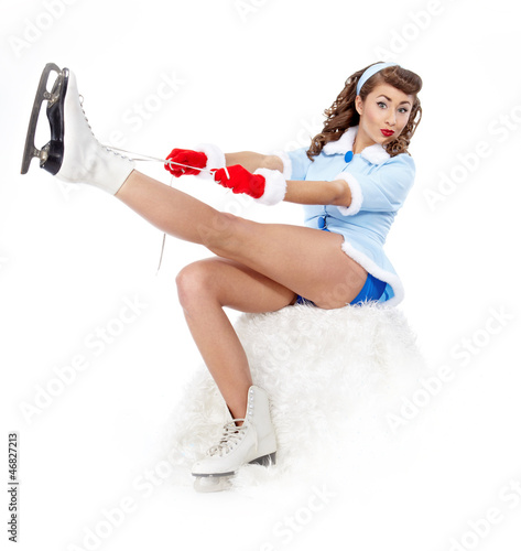 Sexy Ice Skating Woman