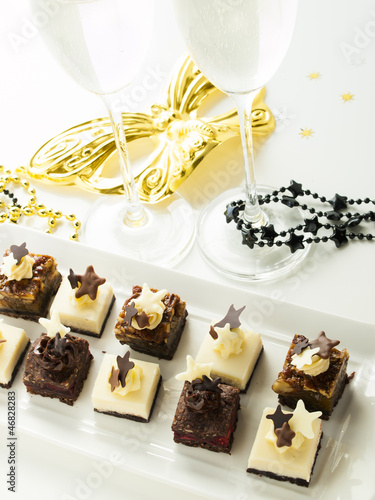 Assorted petite party pastries